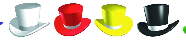 Šest klobukov razmišljanja – metoda za vodenje in red v glavi