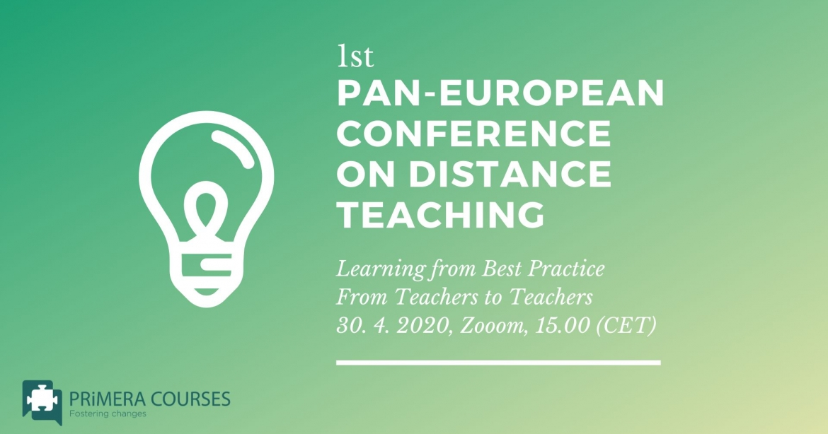 1st Pan-European Conference on Distance Teaching: Learning from Best Practice [ONLINE]