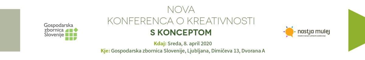 Nova konferenca o kreativnosti – 27. 5. 2020