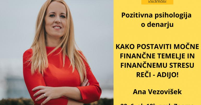 Kako postaviti močne finančne temelje in finančnemu stresu reči – adijo (Zoom), 22. 6. 2020