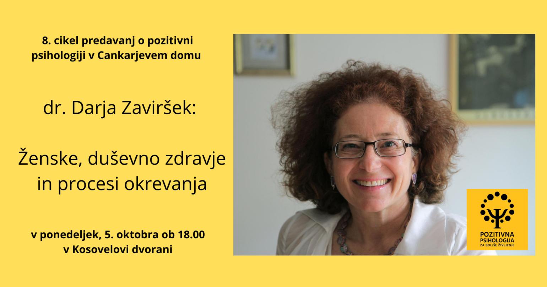 Ženske, duševno zdravje in procesi okrevanja, dr. Darja Zaviršek