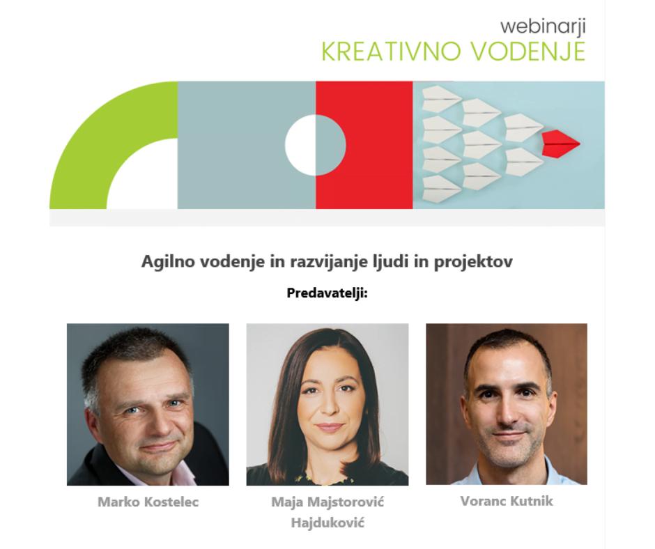 Webinarski trojček: Agilno vodenje in razvijanje ljudi in projektov, 9. 2. od 9h do 12.30