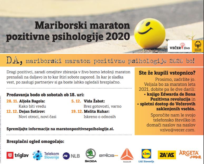 4. mariborski maraton pozitivne psihologije!