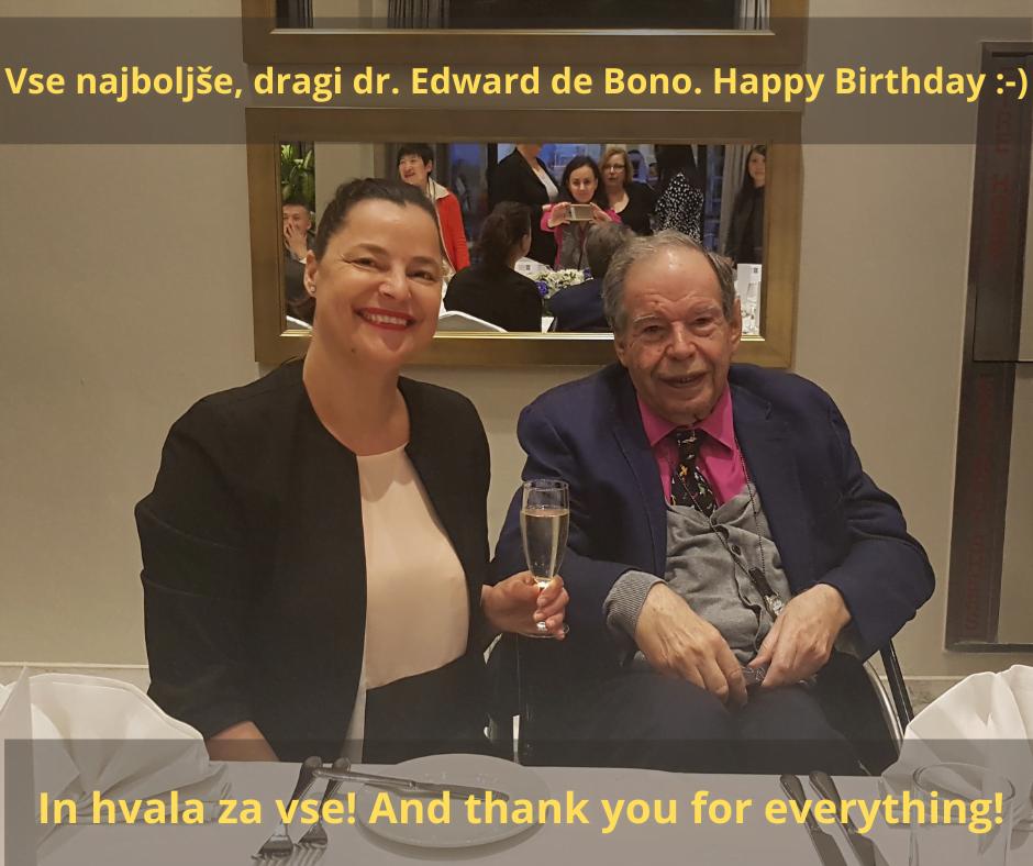 Danes praznuje dr. Edward de Bono